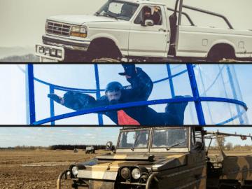 Zestaw Ziemia-Powietrze Monster Truck Amfibia Aerotunel